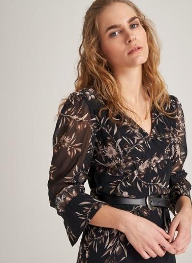 Desenli Şifon Elbise-People By Fabrika